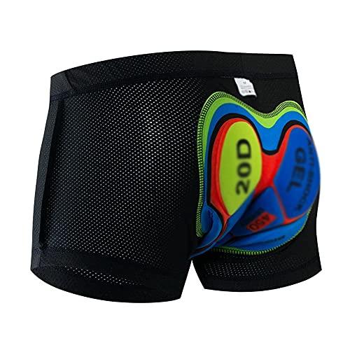 GAOTINGSD - Pantaloncini da ciclismo da uomo, imbottiti, in cotone 20D, con imbottitura in gel, traspirante, adatti per ciclismo, corsa, alpinismo, Unisex - Adulto, Nero , C(L)