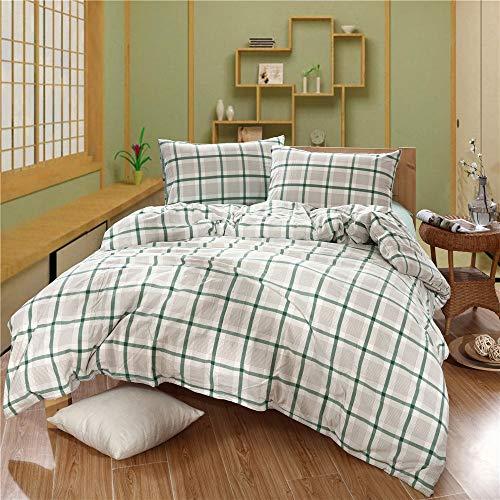 Heqianqian Colcha de Tres Piezas Lisas de poliéster/algodón en Relieve, Colcha para Cama de Matrimonio, para Lavar en el Dormitorio, Lavar a la Cama de la casa, algodón, Rojo, 1,5 m