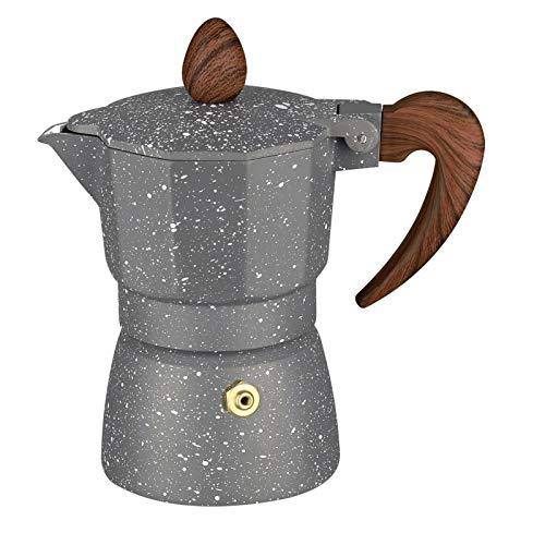 FDT112. Achteckige Kaffee Topf italienische Moka Topf destillation extraktion Hand Kaffee Topf Haushalt Espresso Kaffee Topf (Color : Gray, Size : 6-Cup)