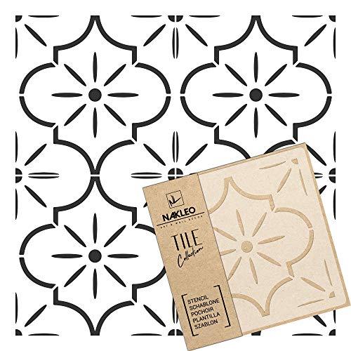 LUCCA Azulejo reutilizable PLÁSTICO Plantilla // Geométrico marroquí // Suelo Pared (10x10cm)
