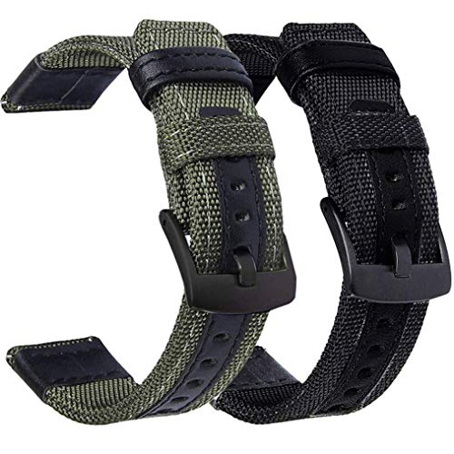 OTOPO kompatible Galaxy Watch 3 45mm Armband/46mm Armband/Gear S3 Frontier Armband, 22mm Dauerhaft Nylon Armband für Samsung Galaxy Watch3 45mm 2020