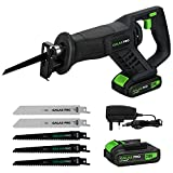 GALAX PRO Reciprocating Saws, Cordless Li-ion Reciprocating Saw with Fast Charger, Tool-Free Blade Change and...