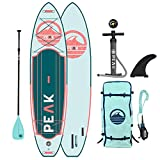 Peak Expedition Inflatable Stand Up Paddle Board — Durable Lightweight Touring SUP with Stable...