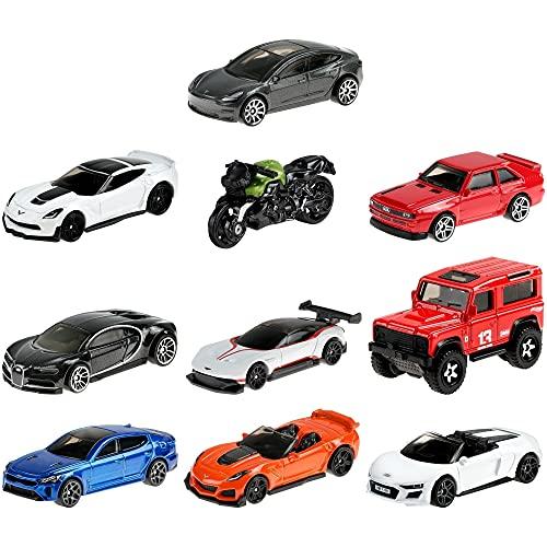 Hot Wheels Colección Factory Fresh Pack 10 mini coches de juguete, regalo para niños +3 años (Mattel GTD81)