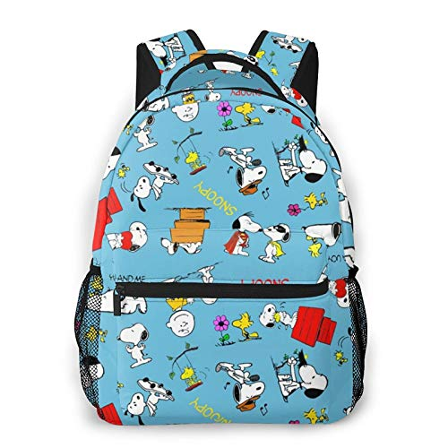 SNO-Opy Canvas Backpack School Bag Casual Travel Daypack Laptop Backpack for Adult Teen Student