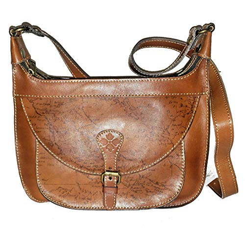 Patricia Nash Heritage Bettola Crossbody Bag (Rust Map)