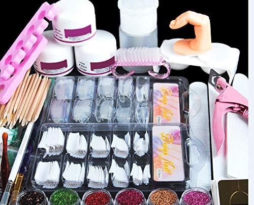 Modus Galerie Acryl Nagelset Nail Art Set professionelle Nageldesign Acrylpulver Glitzerpuder Strasssteine Dekoration Kits Satz