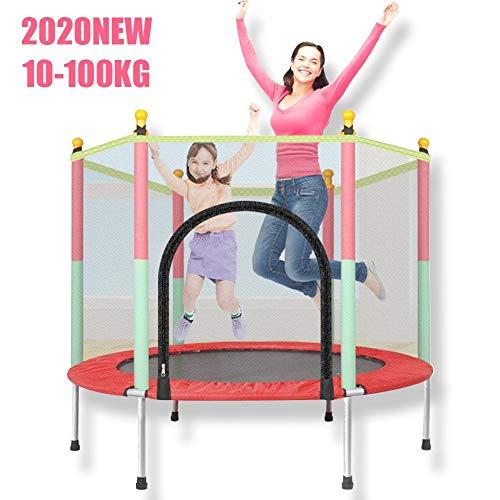 XTT Trampolin 140 cm mit Netz Kinetic Hochsicheres Hochleistungs-Sprungschutz-Sicherheitsnetz Ideal Eltern-Kind-Sport Loslassen Energie Kinder Indoor Outdoor