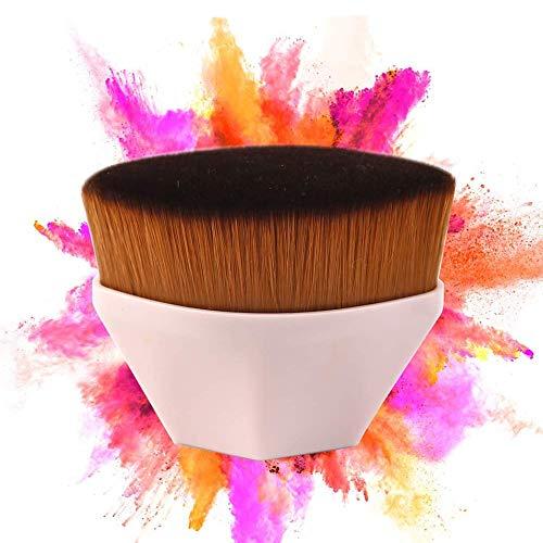 Fond de teint sans couture pour fond de teint, pinceau de maquillage Fond de teint plat Kabuki - Idéal pour mélanger, pinceau tampon cache-cernes à couverture totale