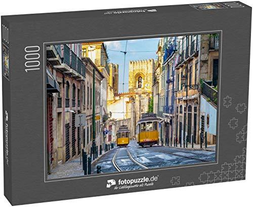 Puzzle 1000 Teile straßenbahn der Linie 28 in lissabon, Portugal - Klassische Puzzle, 1000/200/2000 Teile, in edler Motiv-Schachtel, Fotopuzzle-Kollektion 'Verkehr'