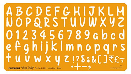 Lettering Template Zeichnung Drafting Casual Font- III Letter Schablone Größe 20 mm
