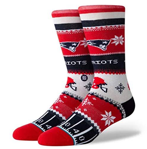 Stance Herren Socken Patriots Holiday Sweater rot L