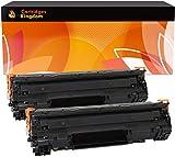 Cartridges Kingdom Pack de 2 Cartuchos de tóner láser compatibles con HP CB435A 35A para HP Laserjet P1005 P1006 P1007 P1008 P1009 Canon i-SENSYS LBP-3010 3100 LBP-3018 3108 3050 3150 3010 3100