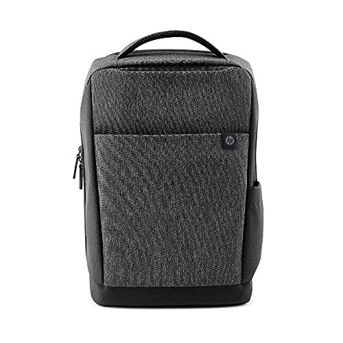 """HP - PC Renew Zaino per Notebook Fino a 15.6"""", Creato con Materiale Reciclato, Scomparto Computer o Tablet Dedicato, Tasche Interne Imbottite, Impermeabile, Grigio"""