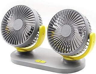 Car Fan 12V 24V General Motors Small Electric Fan Big Truck Double Head Shaking USB Fan Car Accessories