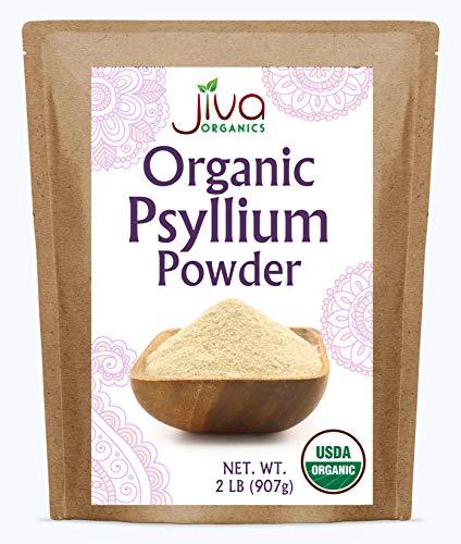 Jiva Organic Psyllium Husk Powder 2 Pound Bulk Bag - Non GMO, Finely Ground, Unflavored - Keto Friendly, Soluble Fiber