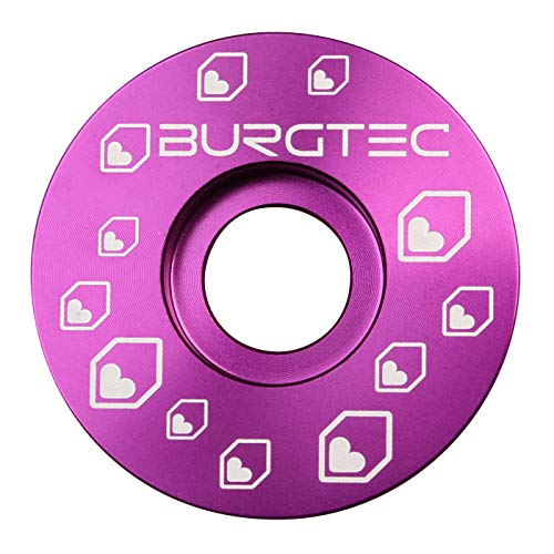 Burgtec Top Cap - Purple/Mountain Bike MTB Part Match Component Lightweight Alloy Accessories Cycling Biking Cycle Trail Ride Style Race Downhill Freeride Dirt Jump Screw Spacer Headset Stem Bolt Kit