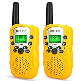 Ouwen PMR446 - Walkie Talkie a 8 canali, Radio a 2 Vie, 0,5 W, Yellow...