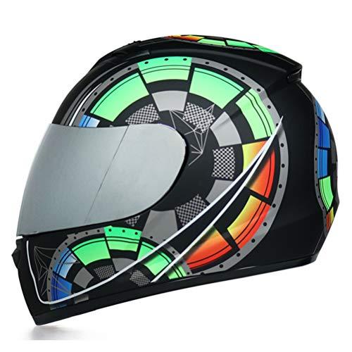 Casco moto integrale DOT doppia visiera Casco moto sicurezza Racing Moto fuoristrada Casco modulare modulare