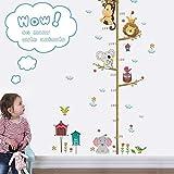 Rubyu Wandsticker Wandspruch mit Höhenmessung, Sticker Cartoon Süß Wand Kinderzimmer Baby Mädchen Jungen Türaufkleber, Personalisiert