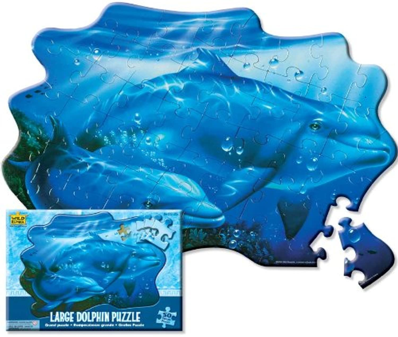 Wild Republic 64583  Puzzle, Motiv Delphin, 50Teile