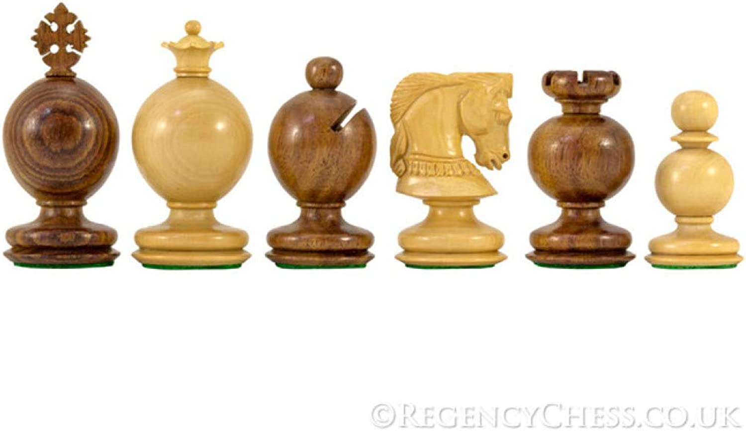 Regency Chess Easter Series golden pinkwood Carved Chessmen