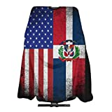 USA Dominican Republic Flag Salon Hair Cutting Cape Cloth Barber Hairdressing Wrap Haircut Apron Cloth Styling Accessory For Unisex