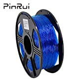 PINRUI TPU 3D Printer Filament, Flexible Filament 1.75mm, 100% Virgin Raw Material, Dimensional Accuracy +/- 0.03 mm, 0.8kg Spool (TPU Blue)
