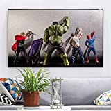 Leinwand Malerei Avengers Movie Hulk Superhelden in der Toilette Thor Poster Nordic Funny Marvel...