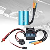 Crazepony-UK 3650 Brushless Motor 5200KV RC Car Splashproof Sensorless and 60A ESC Eletronic Speed...
