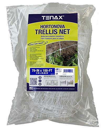 TENAX Hortonova Trellis 6.5x100 White Net