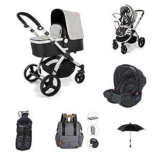 Star Ibaby Neo 3 – Cochecito de Bebé, Gris/Negro – Nuevo modelo con silla homologada hasta 22 kg