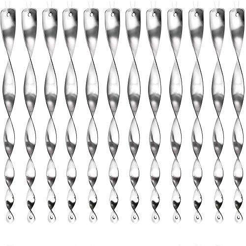 Yomiro 12 Piezas Varillas Plastico Varillas Reflectantes, Repelentes de Pájaros, Ahuyentador de Palomas, Ahuyentar Pajaros Pinchos, Anti Gatos, Repelente Aves Protejan Jardines (Plata)