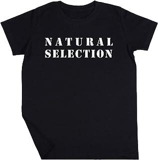 Natural Selection Niño Niña Unisexo Negro Camiseta Manga Corta Kids Black T-Shirt