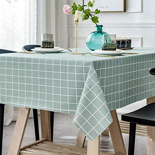 Yinaa Mantel para de Cocina Salón Rectangular Resistente Al Desgaste y Duradero Impermeable Diseño de Comedor Decoración del Hogar Azul 100×160cm