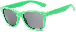 TONGXI - Gafas de sol para niños, estilo retro, UV400, montura flexible, UV400, montura flexible