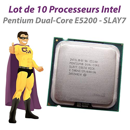 Intel Prozessor Pentium Dual Core E5200 SLAY7, 2,5 GHz, 800 MHz, LGA775, 10 Stück
