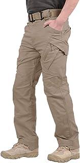 TACVASEN メンズ アウトドア タクティカル ロングパンツ カジュアル ズボン コットン カーゴパンツ ストレッチ 多機能