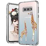 MOSNOVO Galaxy S10e Case, Cute Giraffe Printed Pattern Clear Design Transparent Plastic Hard Back Case with TPU Bumper Protective Case Cover for Samsung Galaxy S10e