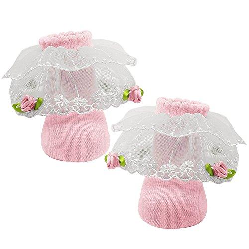 1 paire de chaussettes douces fille nouveau-née pure Cotton Princess Lace Design bébé chaussettes pour 0-1 ans bambin