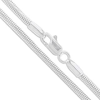Best sterling silver 3mm snake chain bracelet Reviews