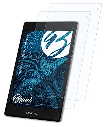 Bruni Schutzfolie kompatibel mit Medion LIFETAB S8311 MD98983 Folie, glasklare Bildschirmschutzfolie (2X)