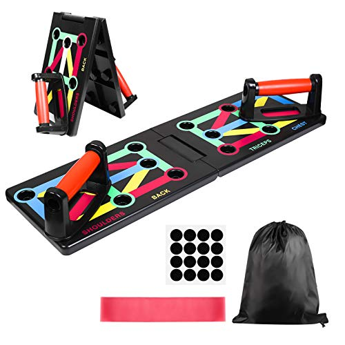 GOAMZ Push Up Board 12 in 1 Sistema Fitness Palestra per Body Training Push-up Board per Allenamenti.
