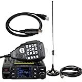 Retevis RT95 Mobile Radio Dual Band VHF UHF 200CH CTCSS DCS DTMF Mobile Transceiver with Magnetic Mount Antenna