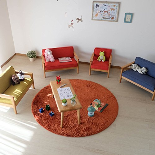 ISSEIKIキッズミニソファL幅67cm(イエロー)カルボ【完成品】CARBOMINISOFAL(NA-TU51)北欧ファブリックキッズルームミニサイズ子供家具