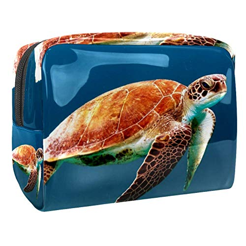 Maquillage Cosmetic Case Multifunction Travel Toiletry Storage Bag Organizer for Women - Turtle Tortoise Swim Ocean