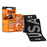 KT Tape Pro Synthetic Kinesiology Sports Tape, Water Resistant and Breathable, 20 Precut 10 Inch Strips, USWNT Rose Lavelle USA Edition, Black