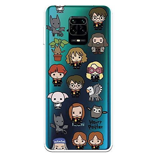 Funda para Xiaomi Redmi Note 9S - Note 9 Pro Oficial de Harry Potter Personajes Iconos para Proteger tu móvil. Carcasa para Xiaomi de Silicona Flexible con Licencia Oficial de Harry Potter.