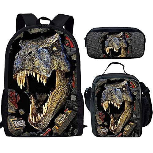 Renewold Juego de 3 unidades de mochila escolar para niños