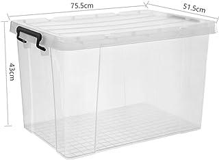 Boîte de rangement XIAOXIAO De 200 litres Extra Large avec Un Couvercle Conception De La Boucle Matériau Respectueux De l'...